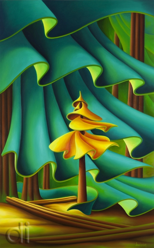 A Slight Rustle (Golden Spruce)