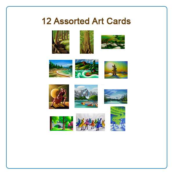 12 Assorted Art Cards