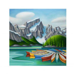 Moraine Lake Art Card